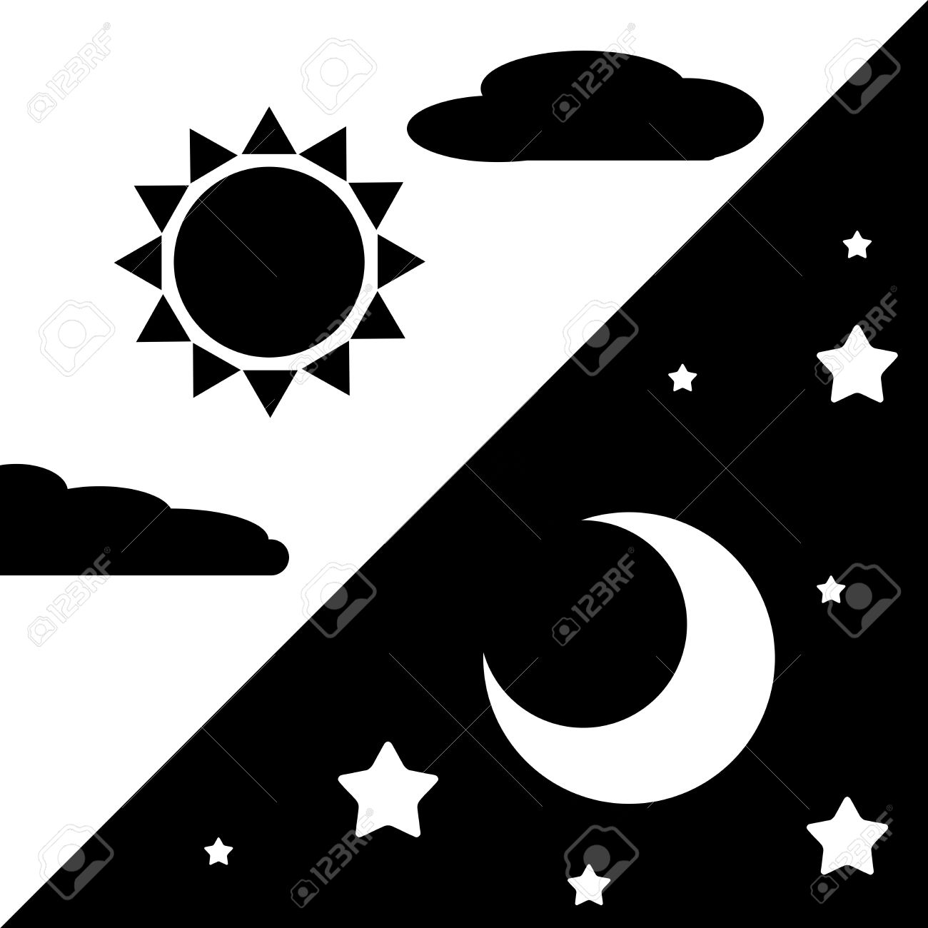 Day And Night Sign Symbol Stock Photo Picture And Royalty Free