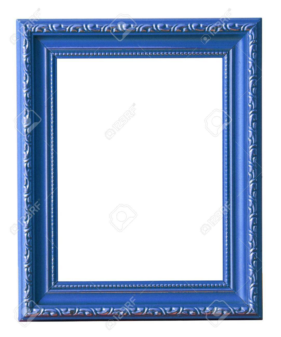 Die Blaue Bilderrahmen Isoliert Auf Weiß Lizenzfreie Fotos, Bilder ...
