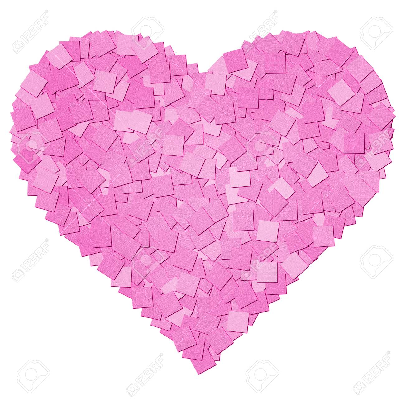 The pink canvas texture heart shape Stock Photo - 13191573