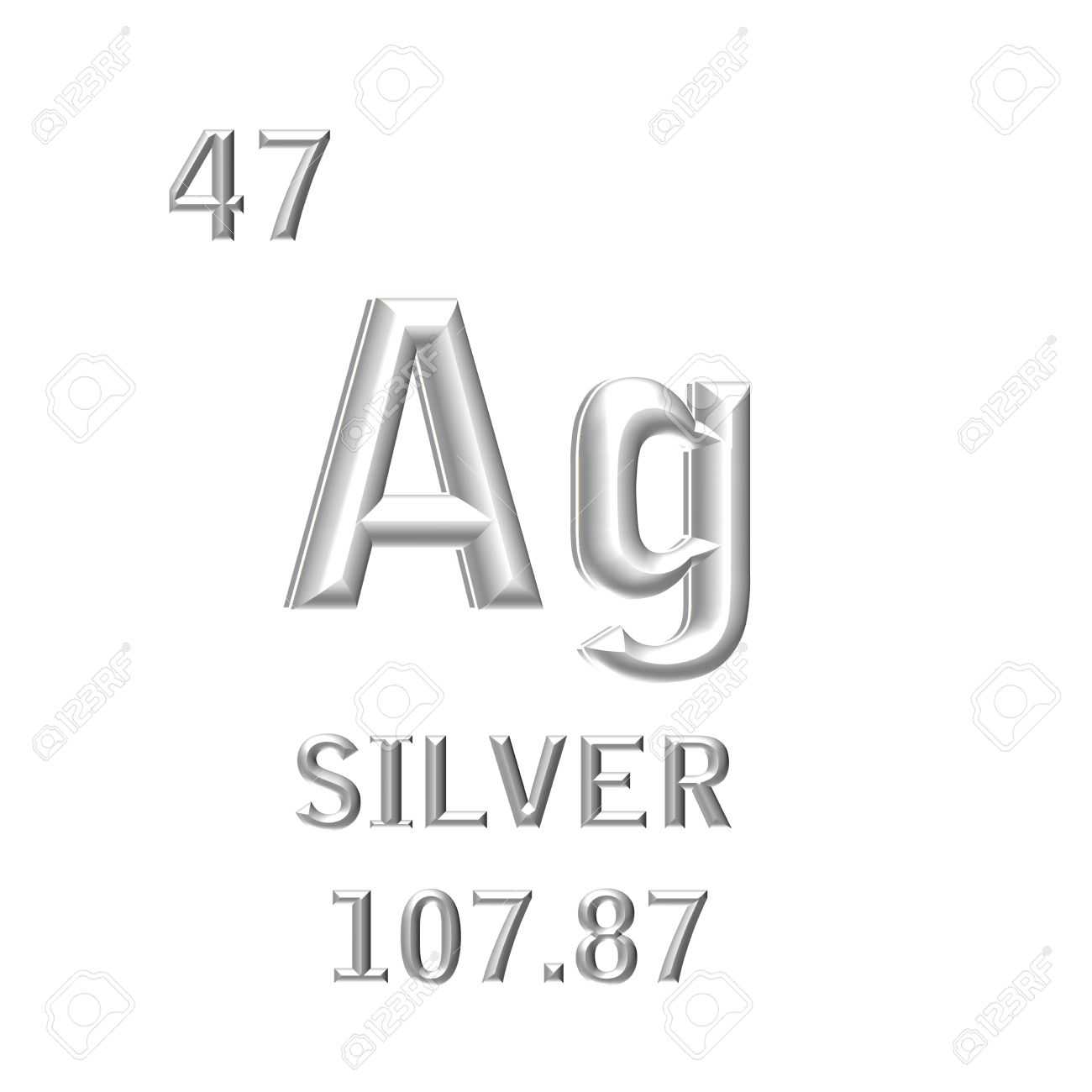 The chemical symbol of silver isolated on the white background the chemical symbol of silver isolated on the white background stock photo 31629453 urtaz Image collections