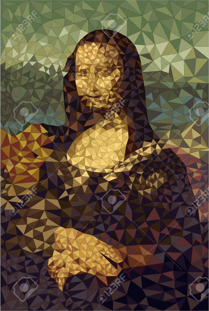 Simplified version of Mona Lisa - 95551328