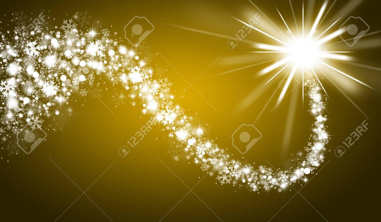 Stella Cadente Di Natale.Priorita Bassa Di Natale Dell Oro Con La Stella Cadente