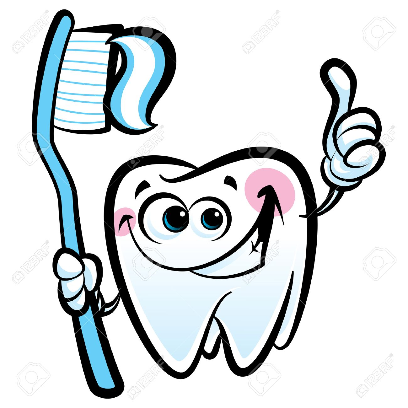 Cute Toothbrush Drawing Healthy cute cartoon tooth
