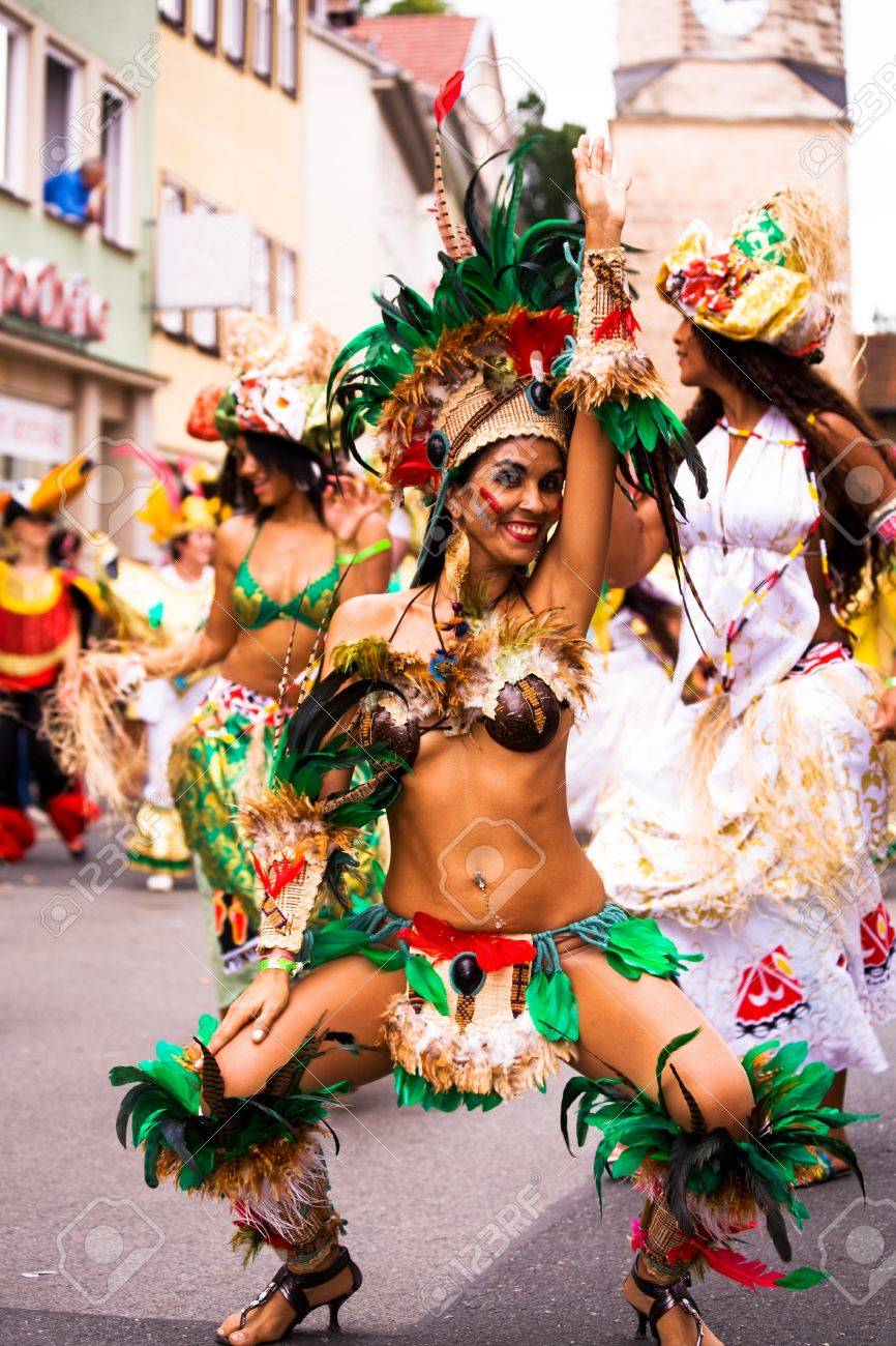 Scenes of Samba Festival - carnival in Coburg, Germany Stock Photo - 10006828