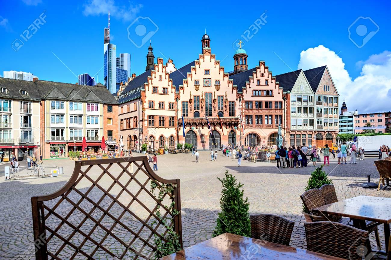 Weihnachtsmarkt Frankfurt Main.Frankfurt On The Main Germany Circa June 2016 The Weihnachtsmarkt