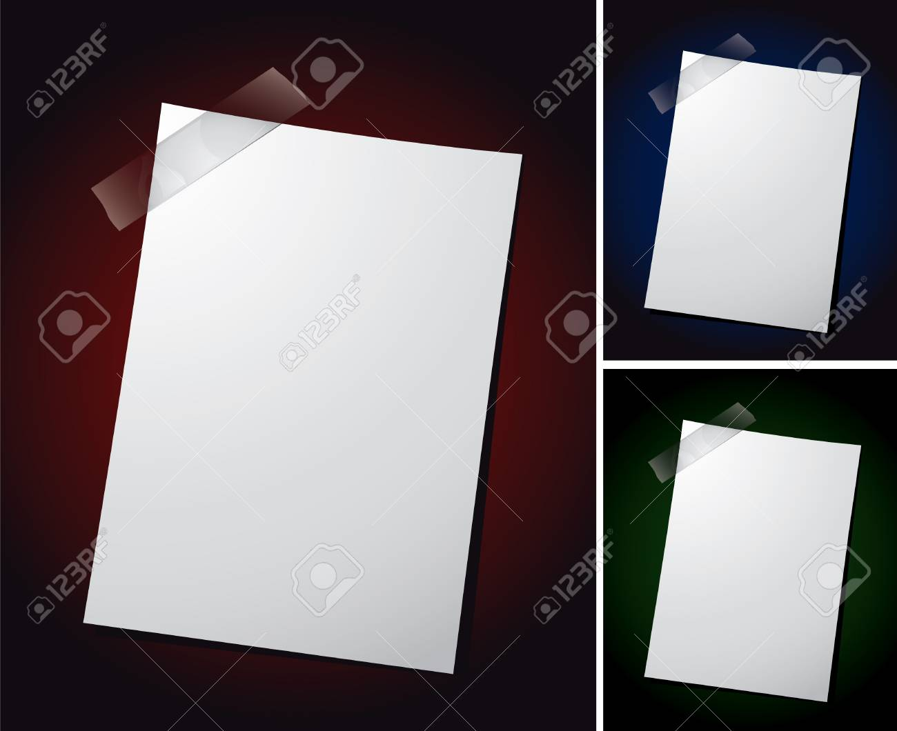 Various vector note paper for text Stock Vector - 5342026