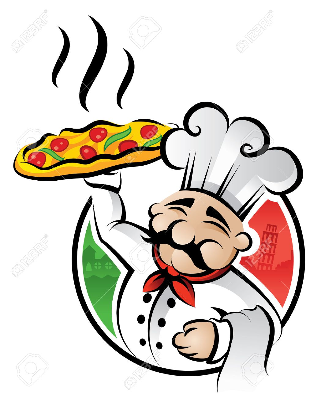 Illustration of an italian chef - 7697879