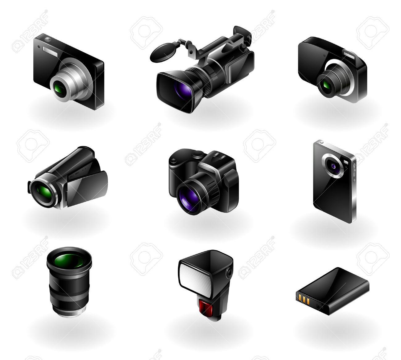 Video Recorder Vector Video Recorder Vector Set of