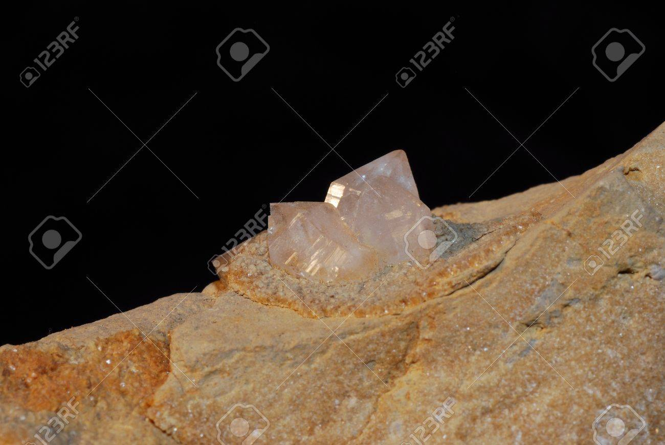 crystal clear with very little pointy pink amethyst mineral Stock Photo - 13075290