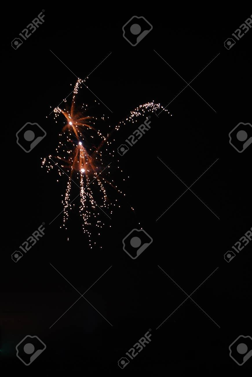 silver in a fireworks explosion in the new year night Stock Photo - 13222864