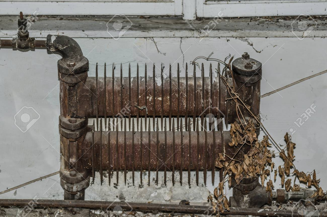Small Old Rusty Radiator In Factory Stock Photo Picture And Royalty Free Image Image 68819657