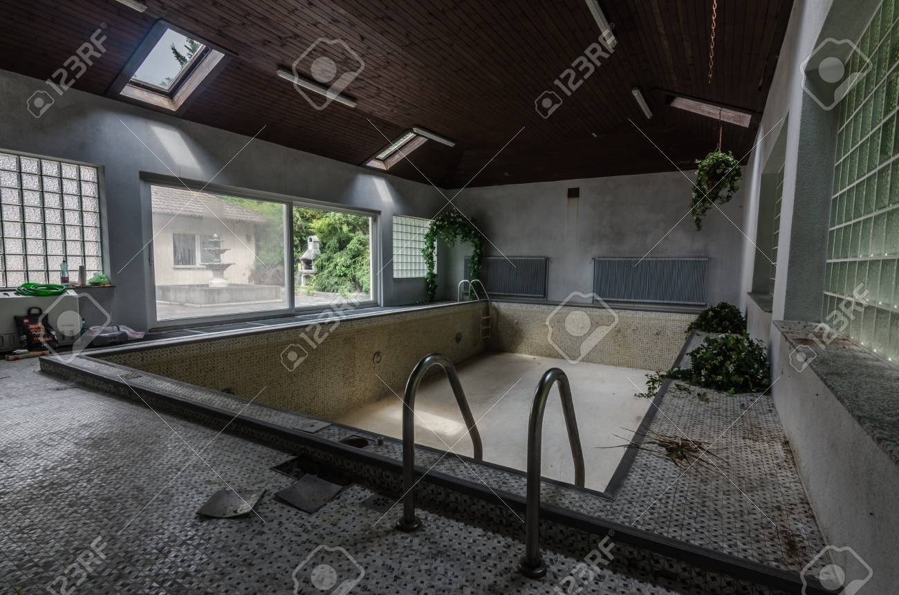 Abandoned Swimming Pool In Old House Stock Photo Picture And Royalty Free Image Image 107041320
