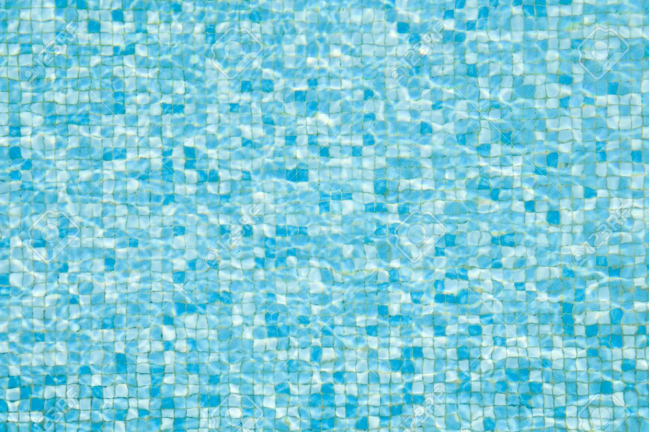 blue summer swimming pool mosaic texture