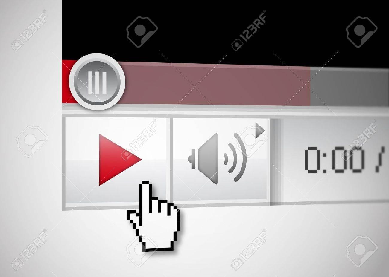video web player Stock Photo - 8889261