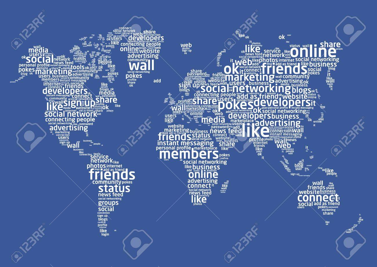The world of social networking Stock Vector - 9440348