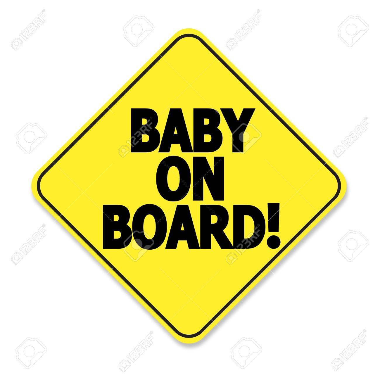 Baby on board Stock Vector - 10529509