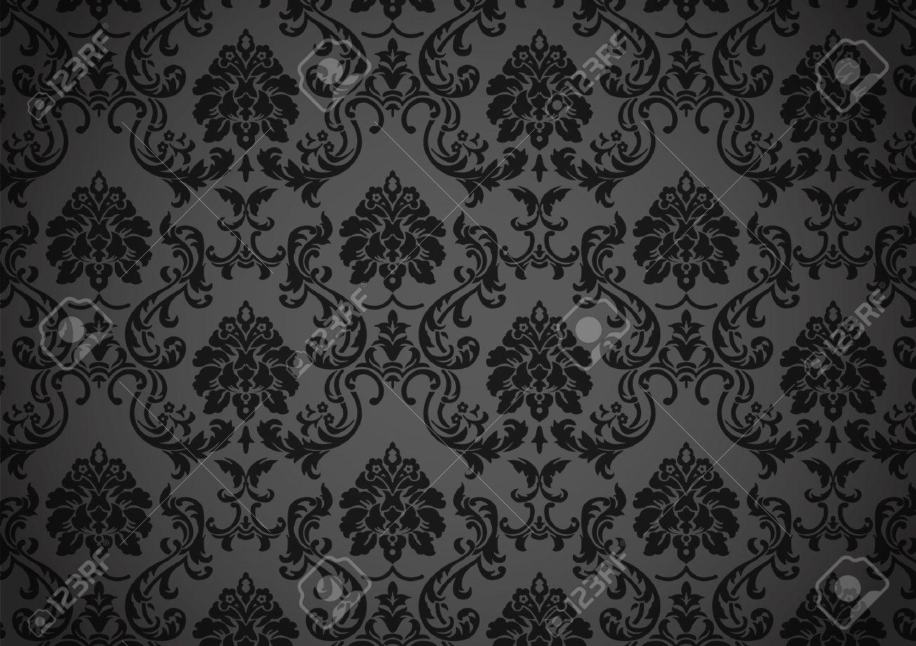 Dark baroque wallpaper - 10607341