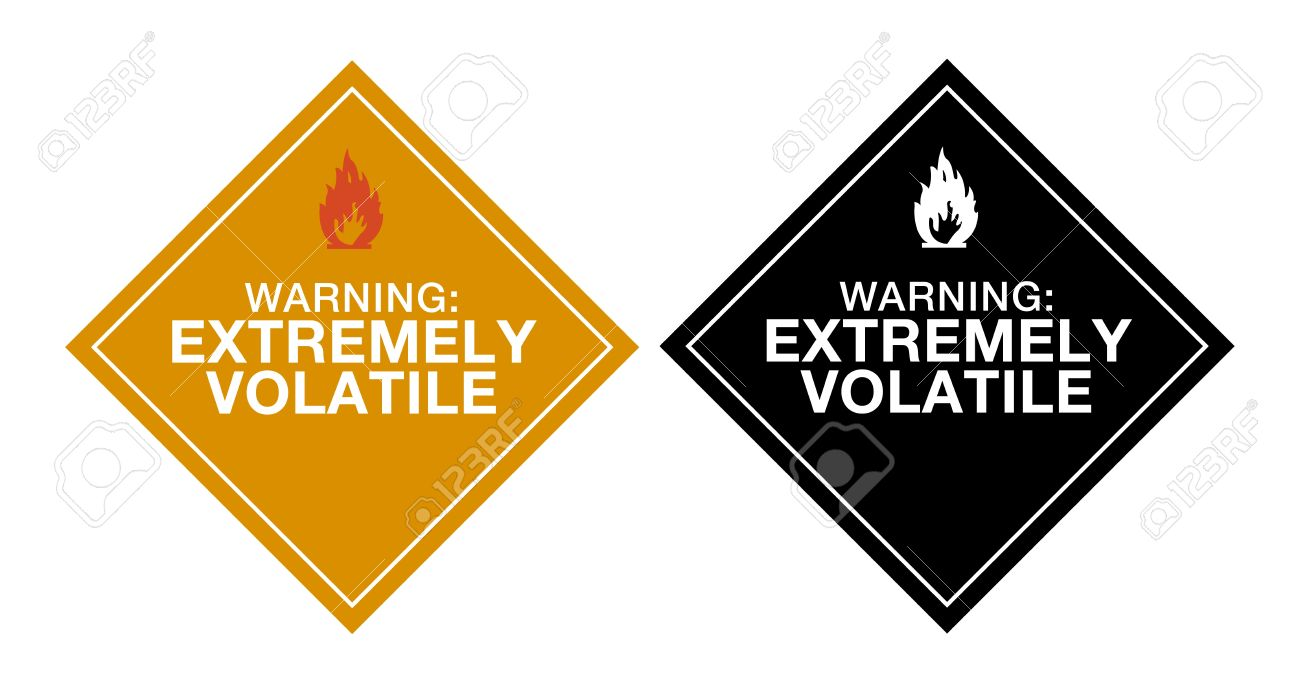 Warning Extremely Volatile Stock Vector - 10754283