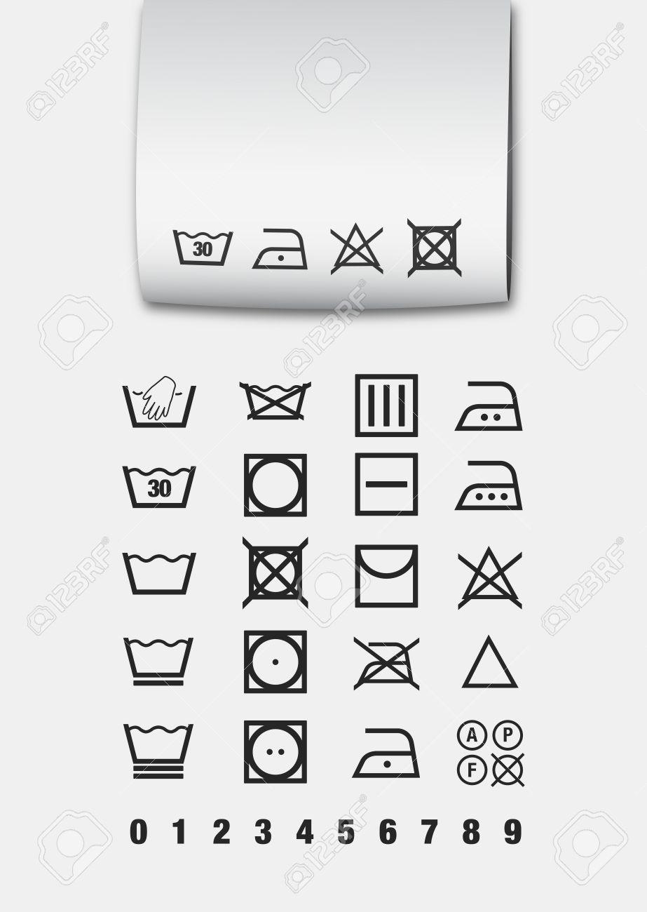 Washing symbols Stock Vector - 12494606
