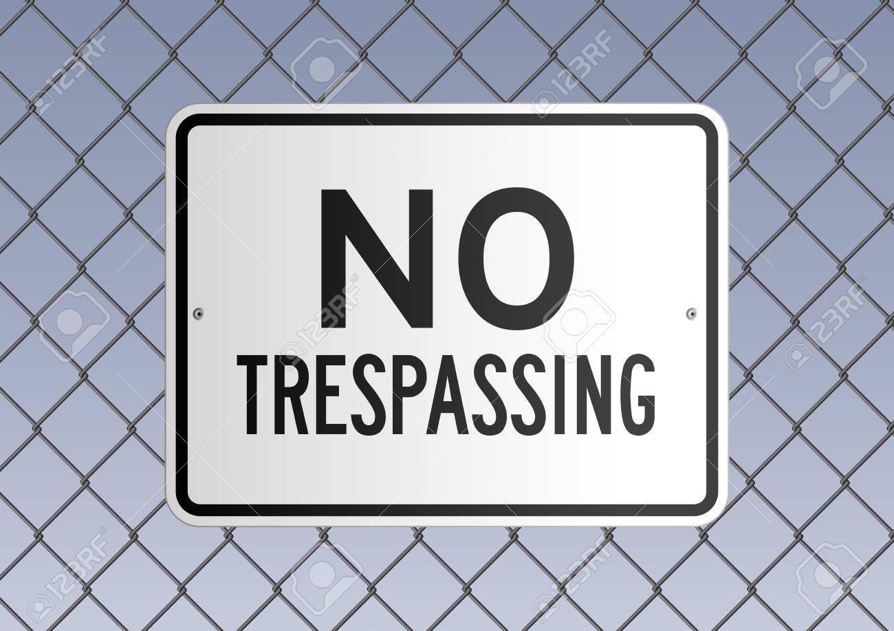 No trespassing Stock Vector - 12817446