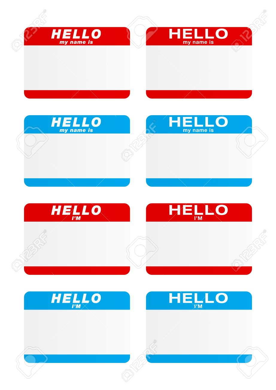 Stickers - Hello my name is Stock Vector - 13403706