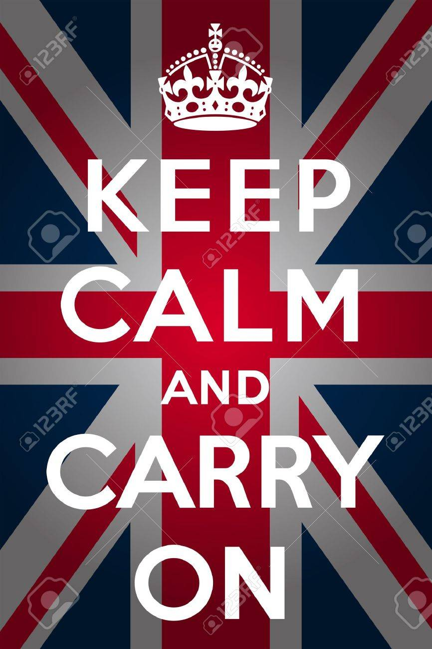 Keep calm and carry on - Union Jack Stock Vector - 13981440