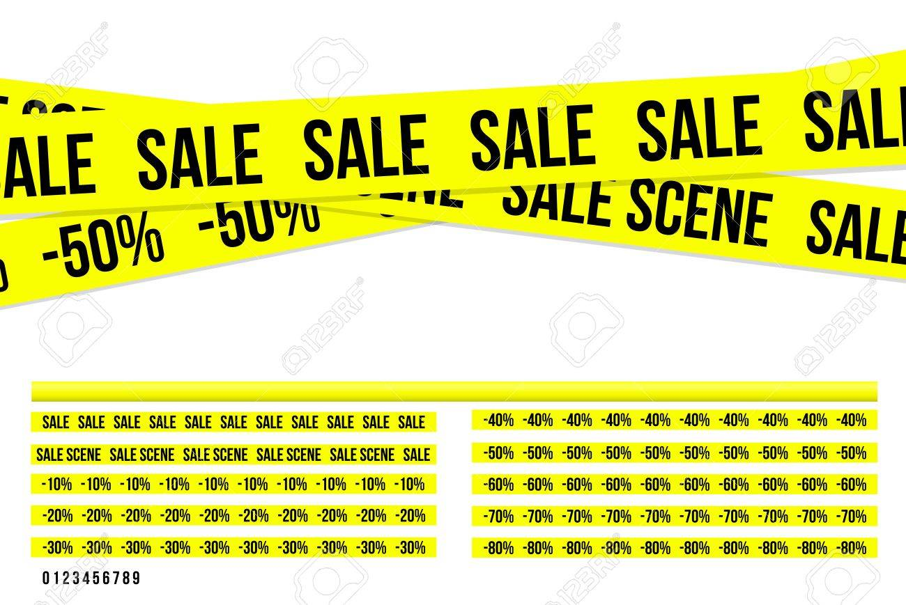 Criminal sale ribbons Stock Vector - 14227145