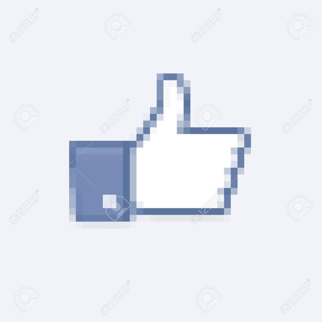 Thumb Up pixels Stock Vector - 15539184
