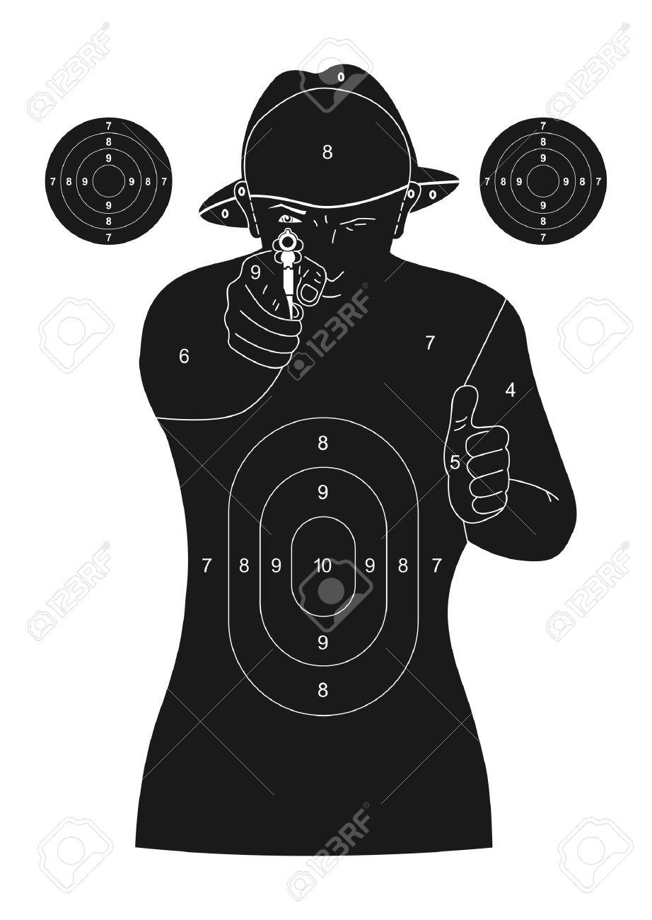 Human silhouette target Stock Vector - 18859410