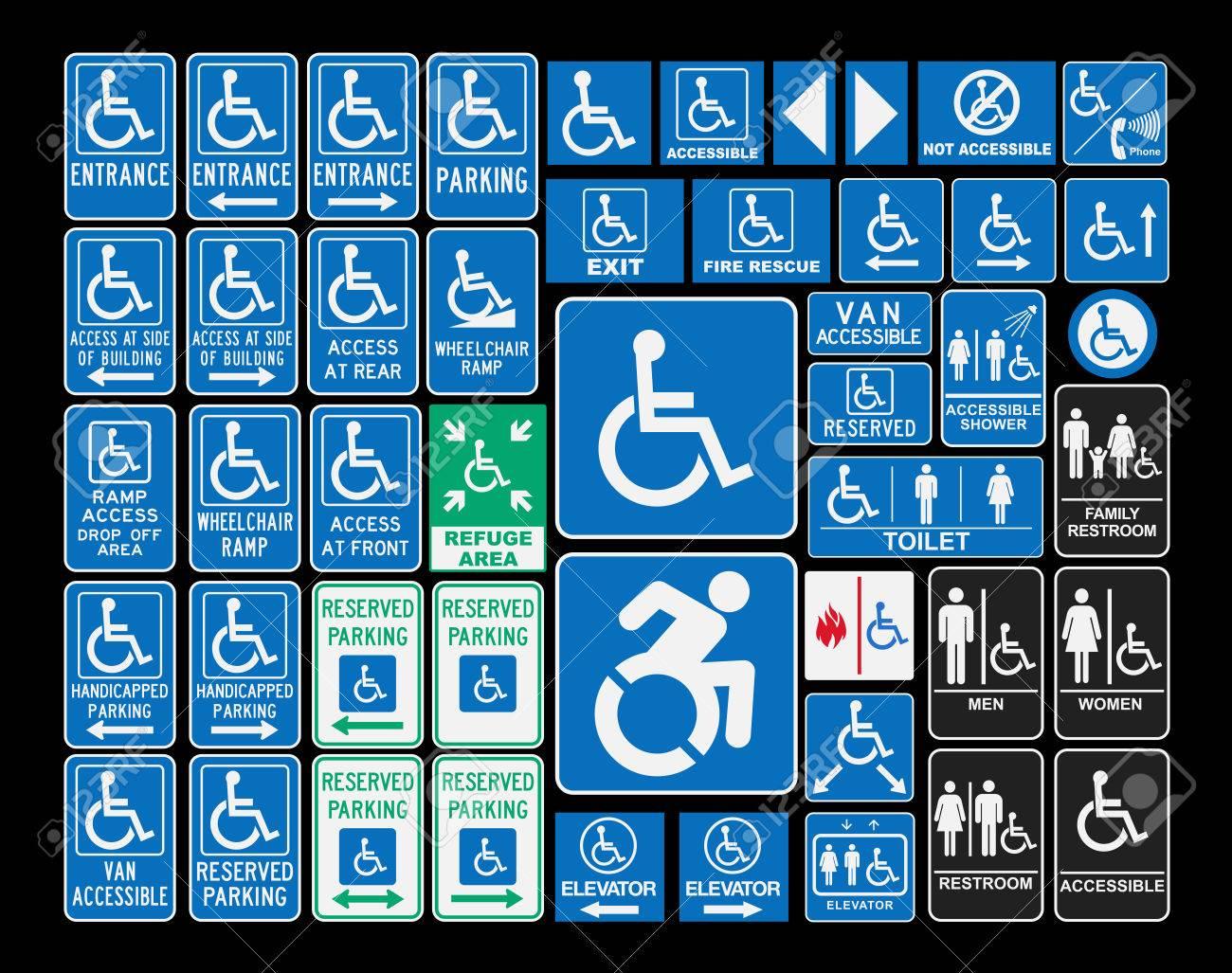 handicap signs royalty free cliparts vectors and stock