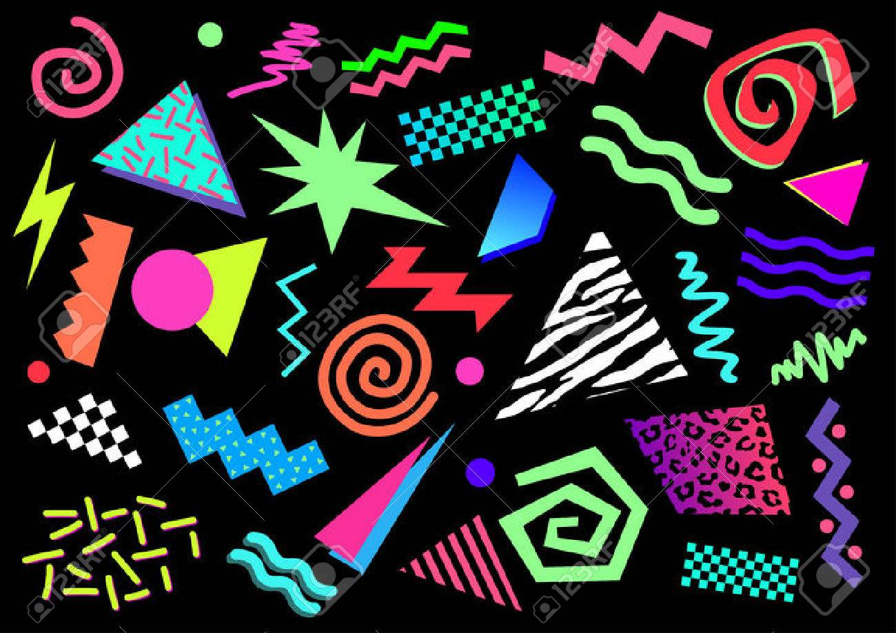 80s abstract shapes royalty free cliparts vectors and stock