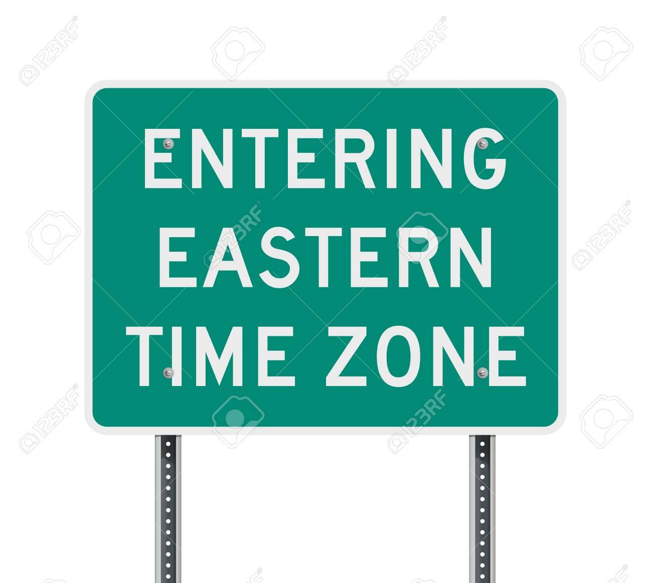 東部標準時ゾーンの道路標識のイラスト素材・ベクタ - Image 89722453.