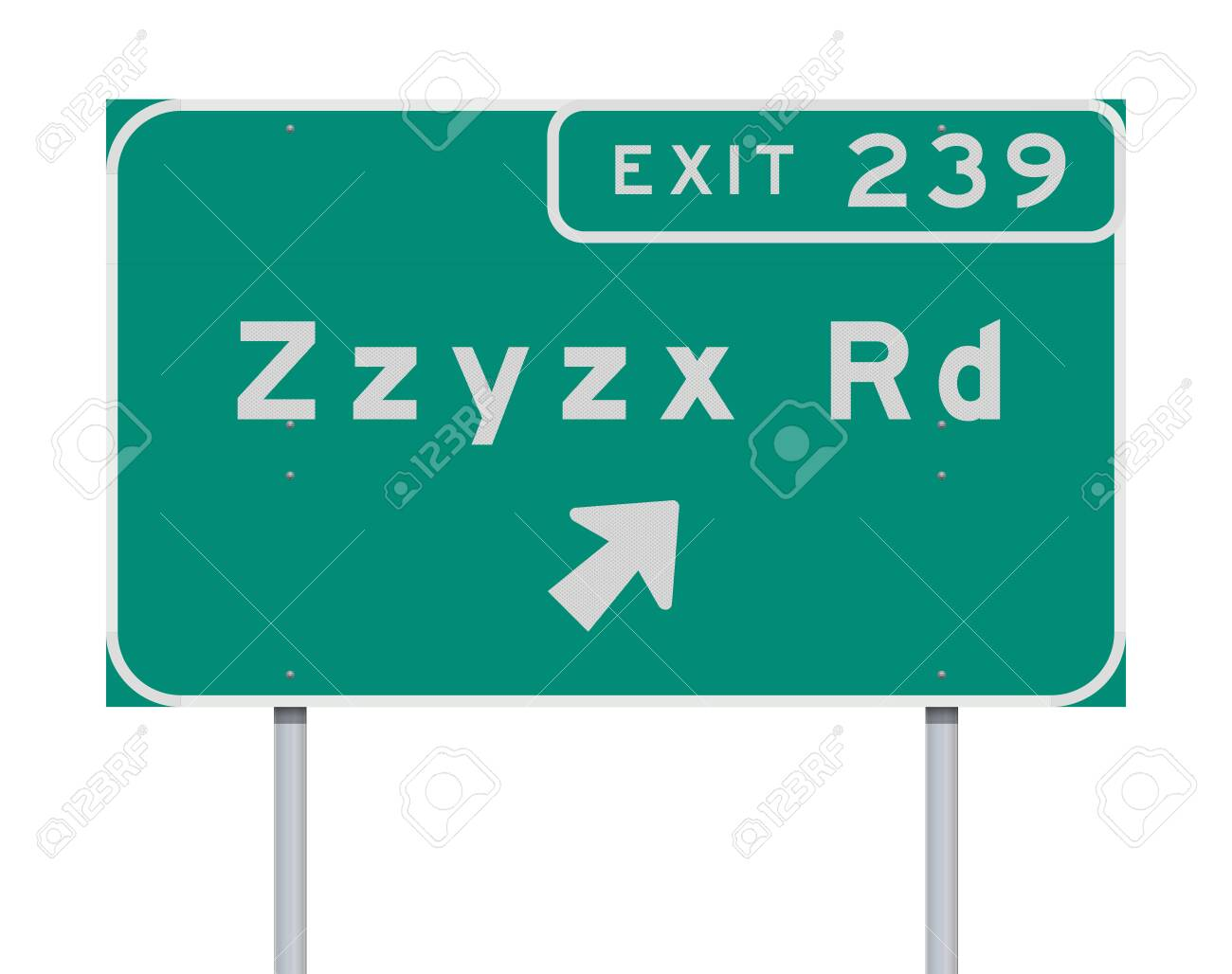 Zzyzx Route Exit direction Road sign - 120332606