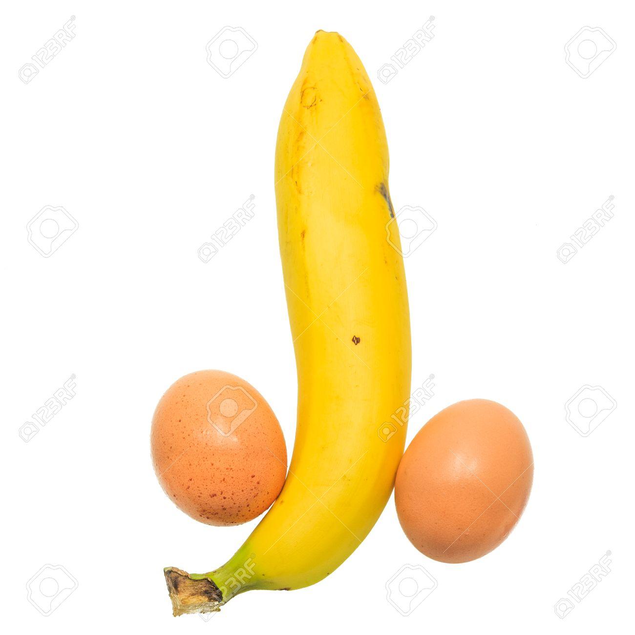 26584343-Bananen-und-Eier-sehen-aus-wie-