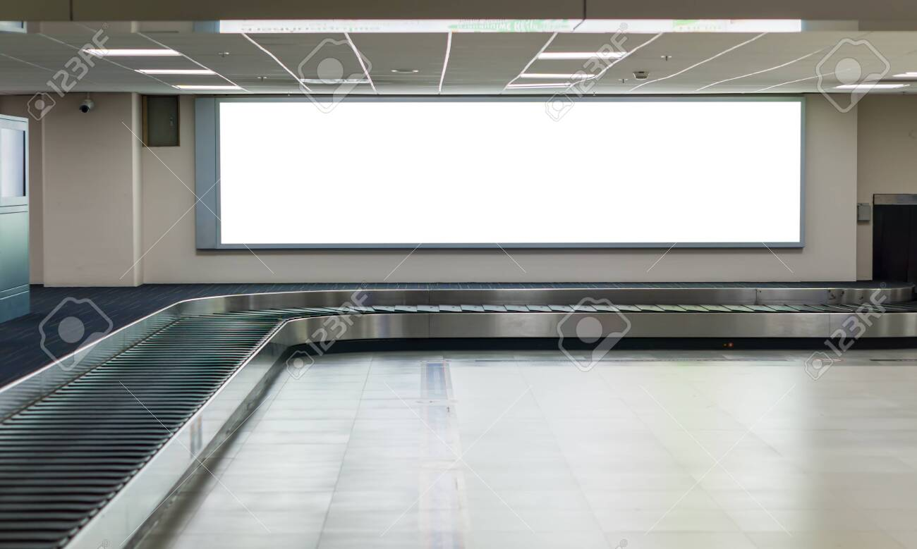 Blank billboard posters in the airport. - 154266806
