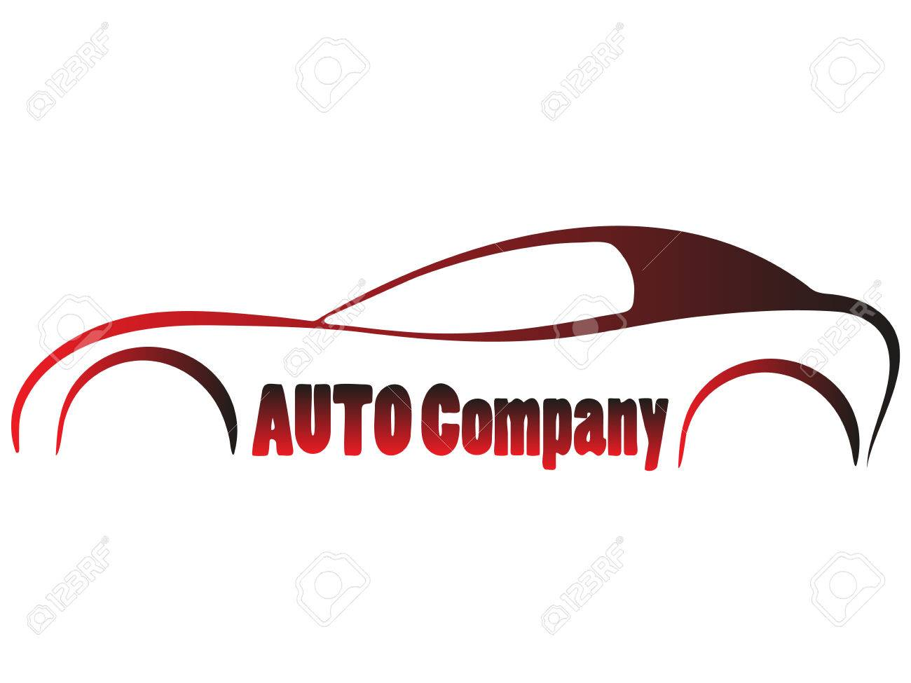 Vector Sport Car Silhouette Symbol Business Company Emblem Isolated