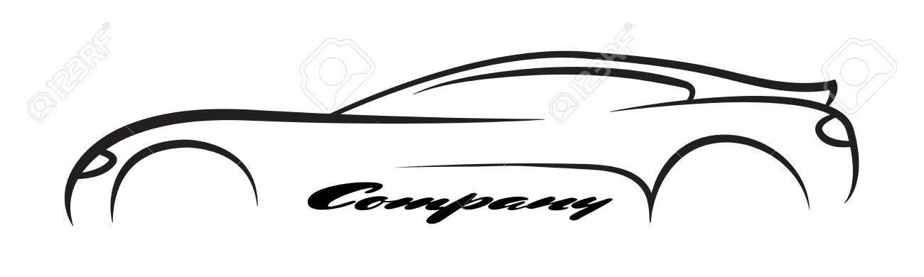 Car Symbols Silhouette Auto Company Dealer Vehicle Logo Vector