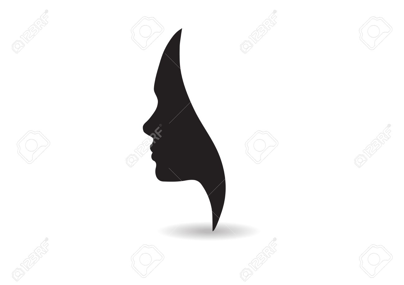 vector women face silhouette isolated business beauty female rh 123rf com face silhouette vector free face silhouette vector free