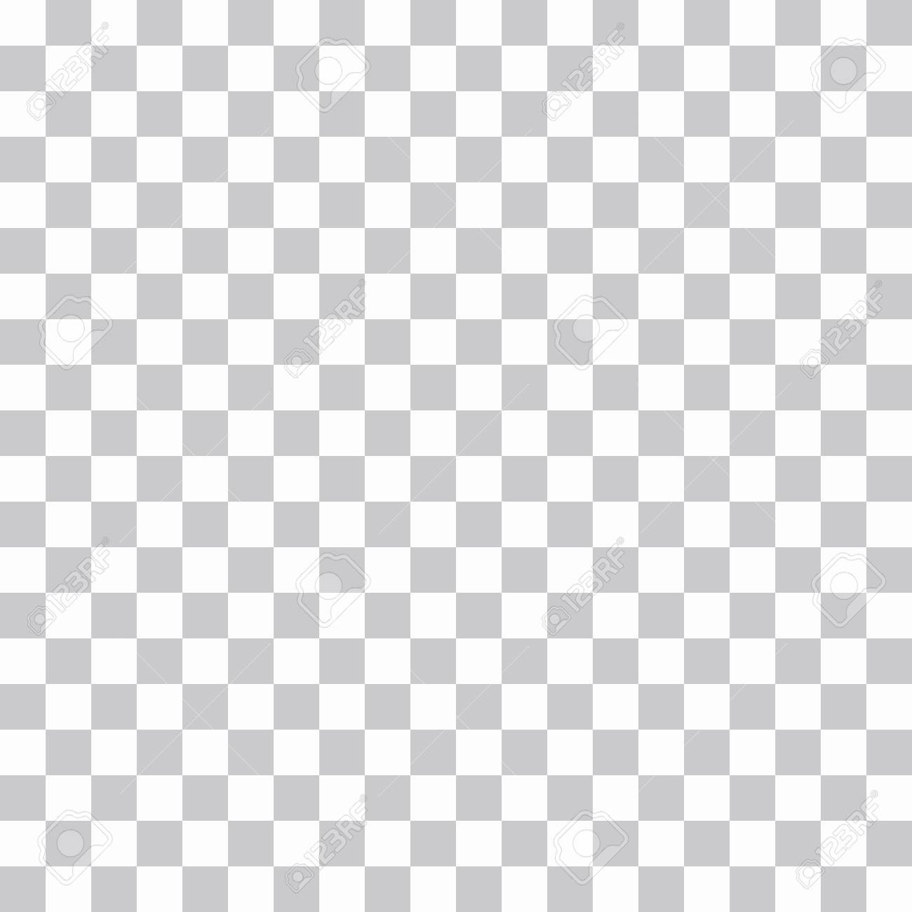 Seamless Loopable Abstract Chess Or Png Grid Pattern Background Of Gray Squares On A White Vector