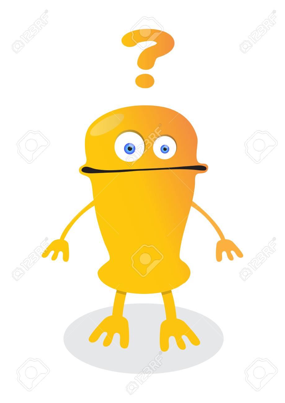 Robot émoticône Confus Avec Des Points Dinterrogation Personnage De