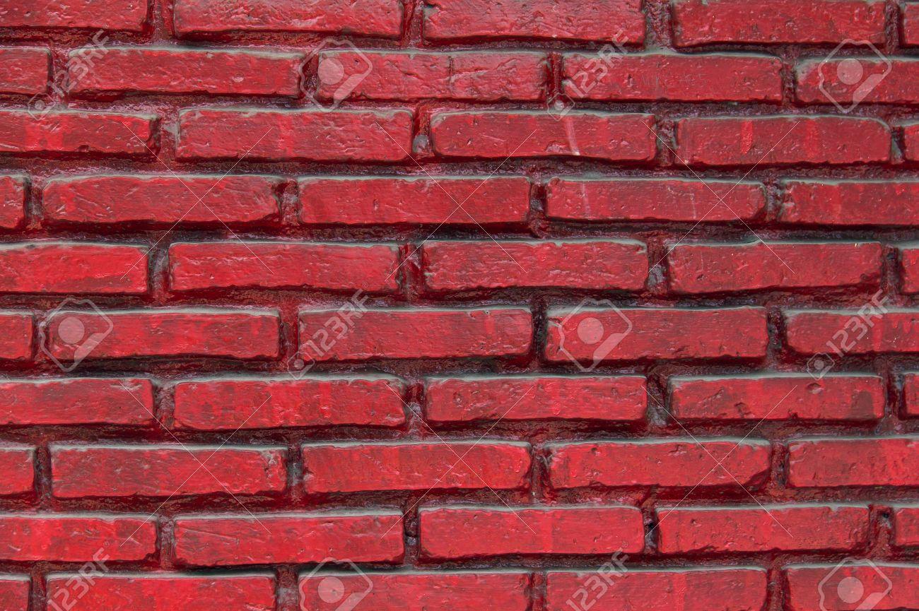 Peinture De La Couleur Rouge Brique Mur Est Des Couleurs Vives Et Poli Mur Rouge En Perspective à L Arc