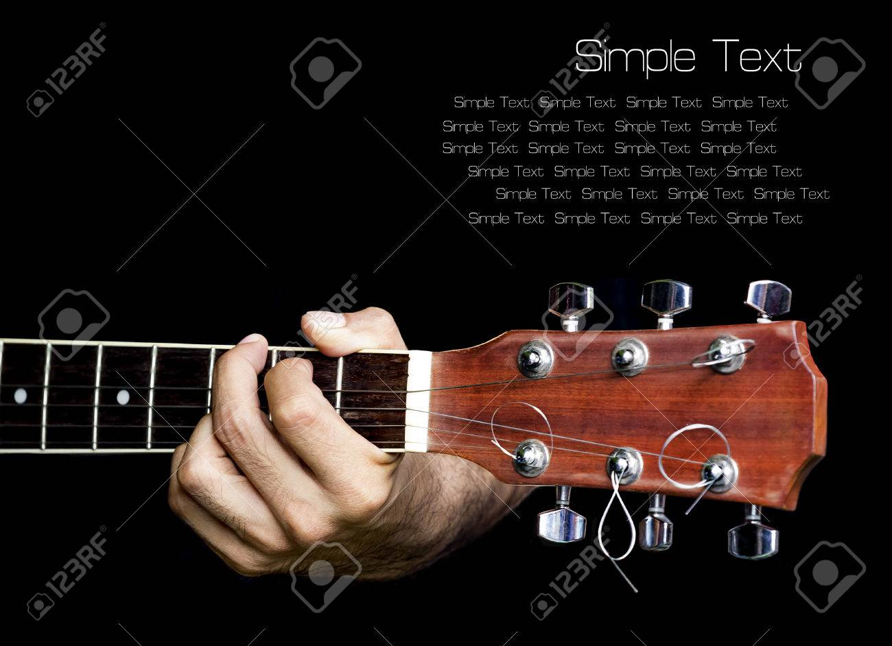 Hand Catching Guitarovide An Example For The Guitar Chordsnger