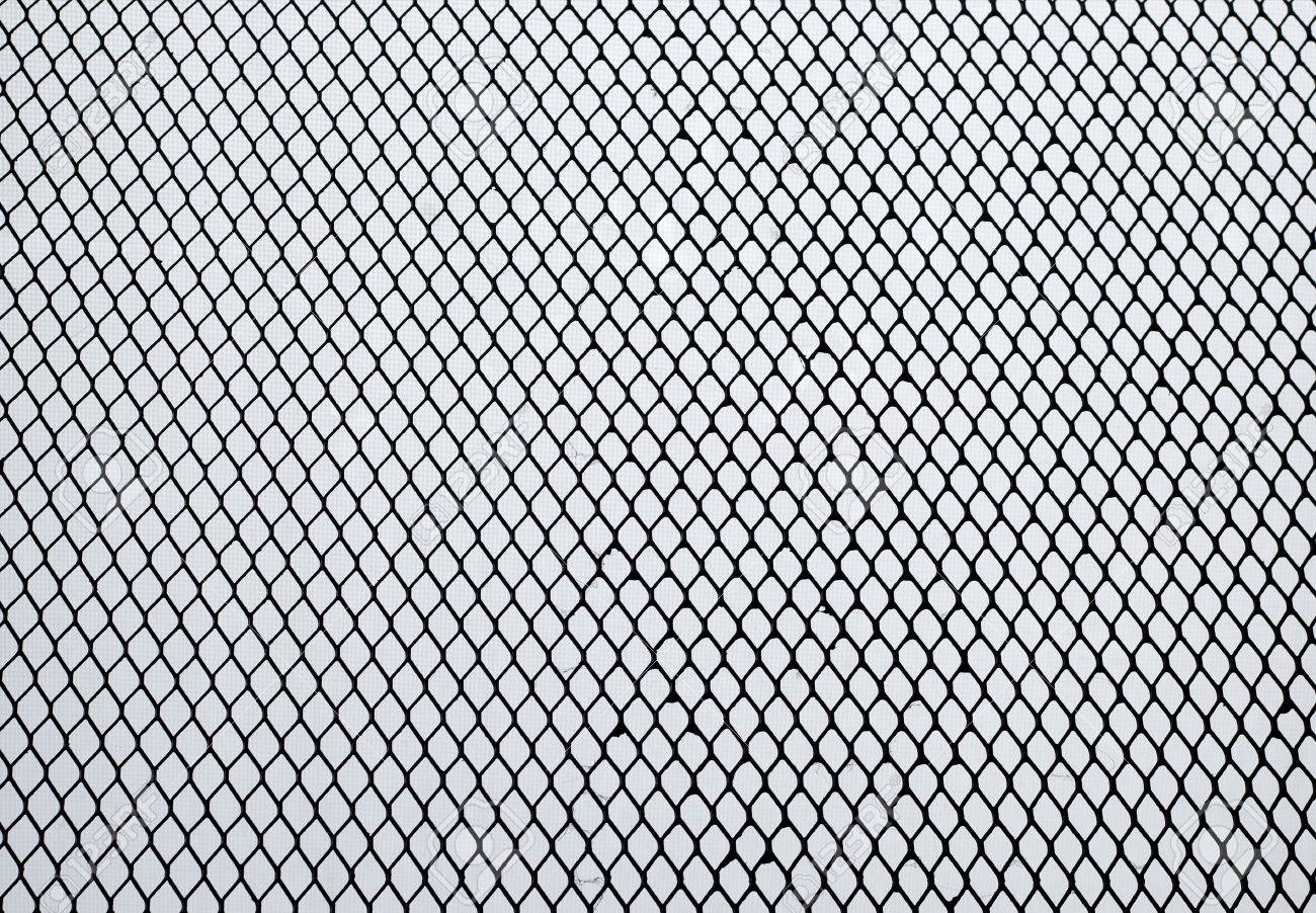 Iron Mesh Fit In Frame . Out Of Focus Background Are Pattern.. Stock ...