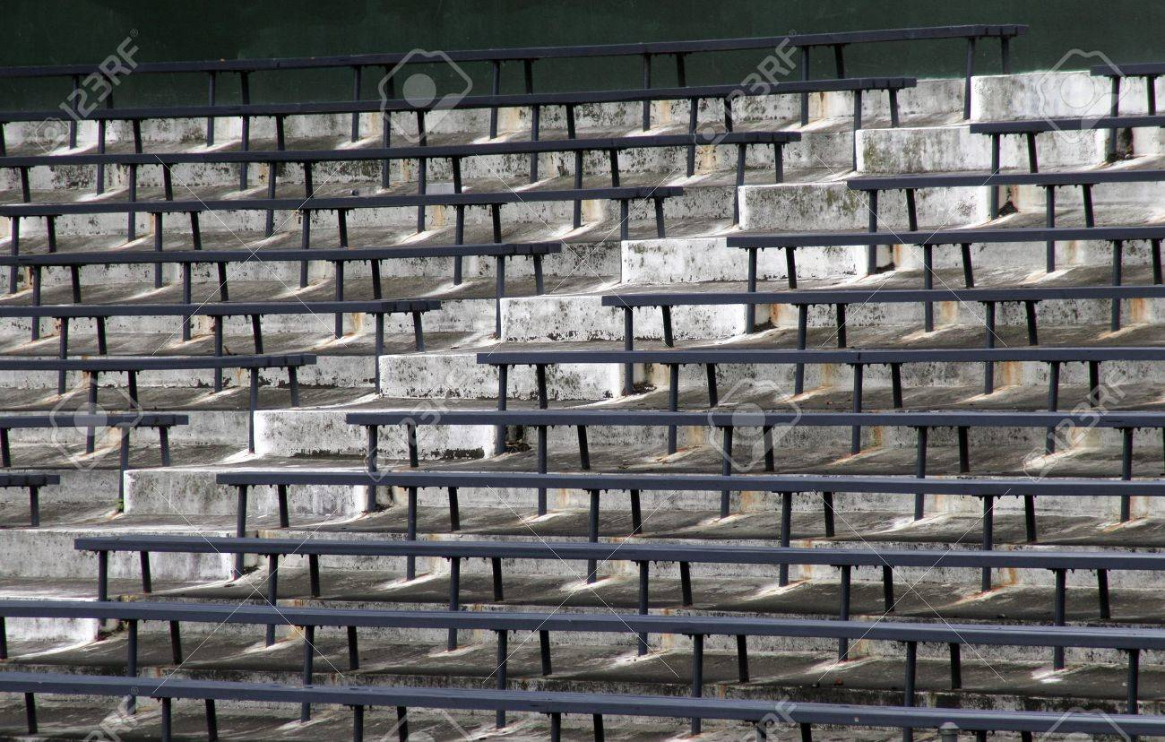 Brilliant Blue Benches On A Grey Concrete Ground In Rows Stadium Seats Alphanode Cool Chair Designs And Ideas Alphanodeonline