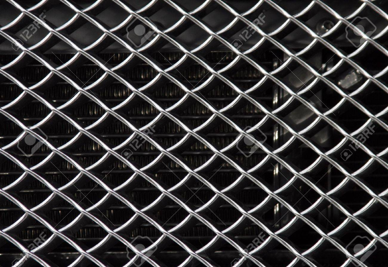 Metal Grid Background, Shiny Metallic Grill Surface Stock Photo - 2025018