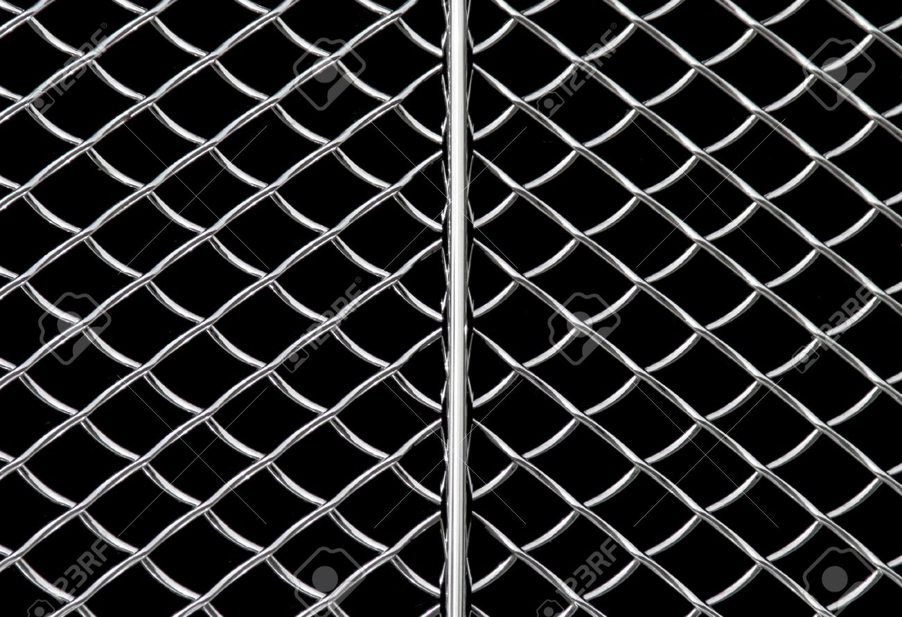 Metal Grid Background, Shiny Metallic Grill Surface Stock Photo - 2025082