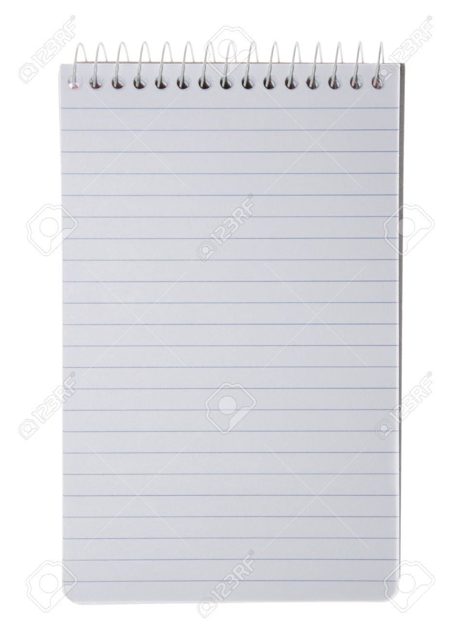Blank Sheet Of Paper With Horizontal Lines On A Spiral Notepad – Blank Sheet of Paper with Lines