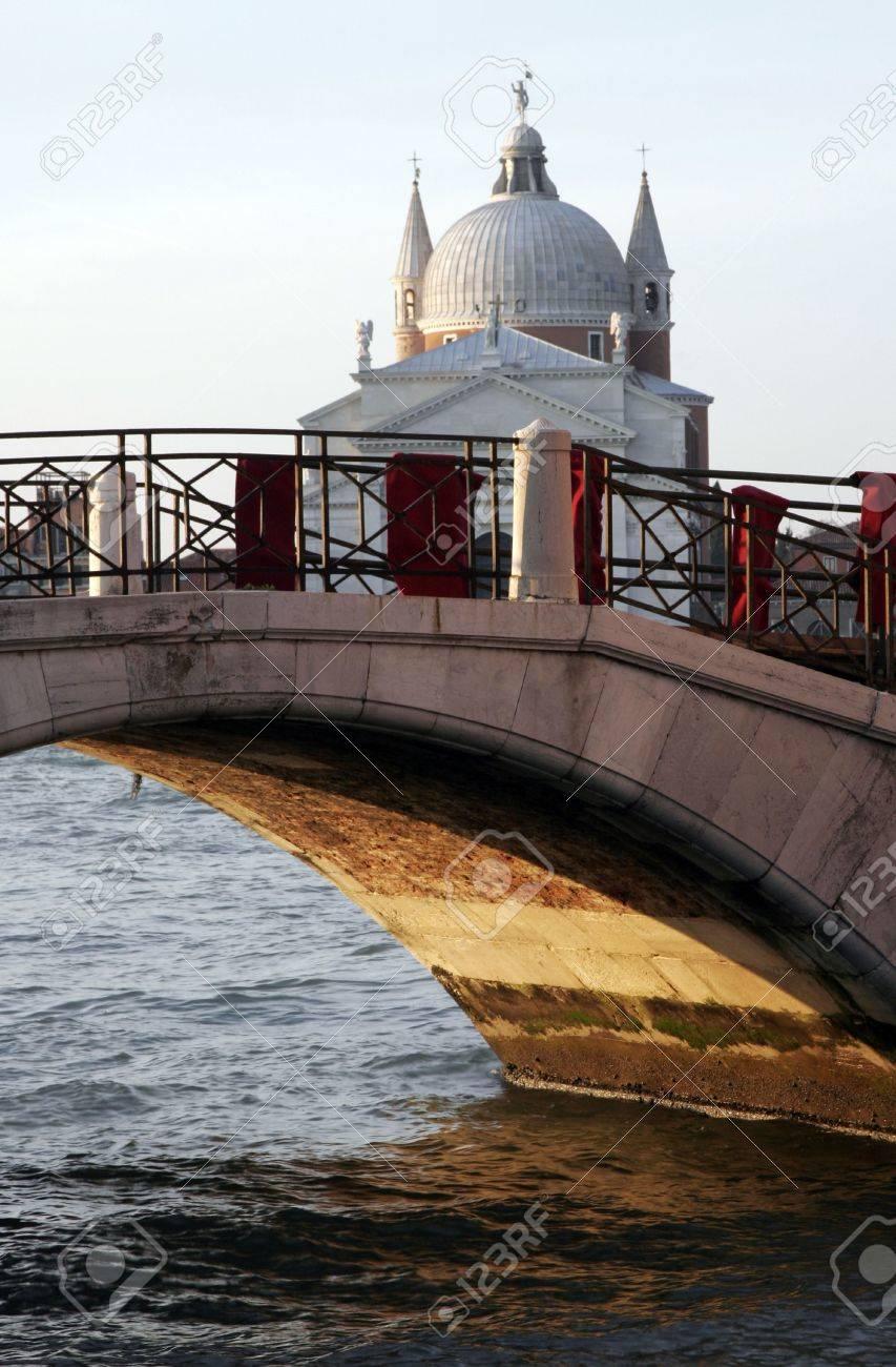 Traditional Old Venice Bridge In Morning Light, Italy Stock Photo - 2480402
