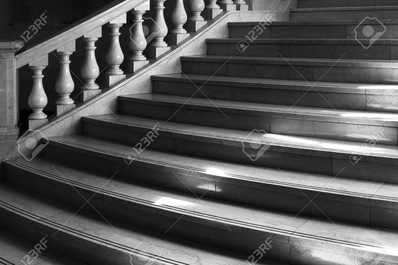 Round Marble Stairs With Classical Coloumn Railing Window Loght Stock Photo Picture And Royalty Free Image Image 2494987