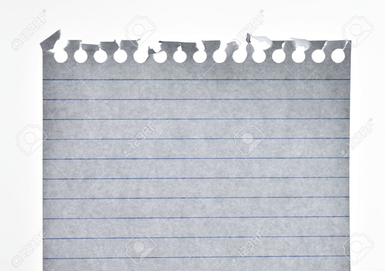 Blank Piece Of A Notepad Paper Sheet With Horizontal Lines – Stationery Paper with Lines